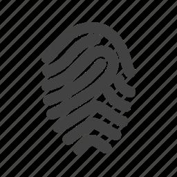 finger, fingerprint, logo, print, thumb, thumbprint, unique icon
