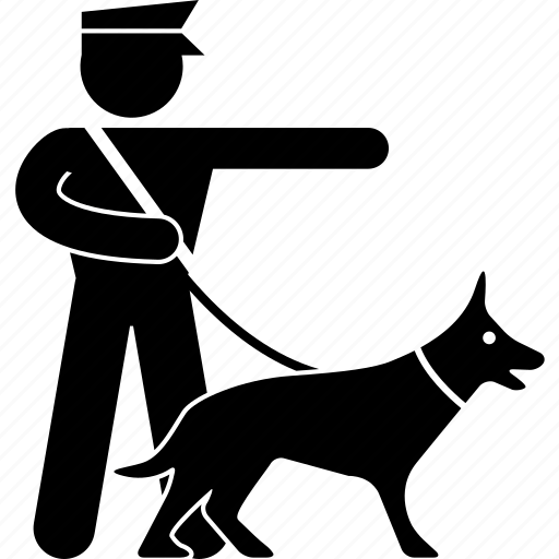 catch, chasing, dog, guard, k9, police, policeman icon