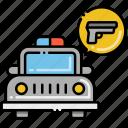 armed, patrol, services icon