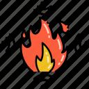 fire, monitoring, flame, burn