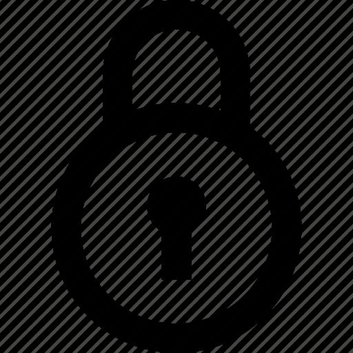 key, lock, padlock, round, security icon