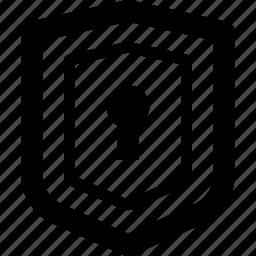 line, lock, shield icon