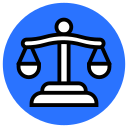 law, legal, scales of justice, balance, crime, justice icon