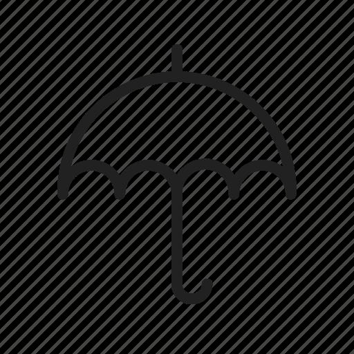 hand, holding, protection, rain, raining, safety, umbrella icon