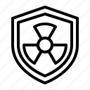 nuclear, radiation, shield icon