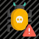 bug, malware, virus icon