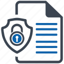 document, security icon