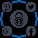 media, security, social icon