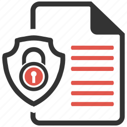 document, protection, safety, secure, security icon