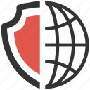 global, protection, safety, secure, security icon