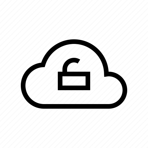 cloud, protect, protection, secure, security, unlock icon