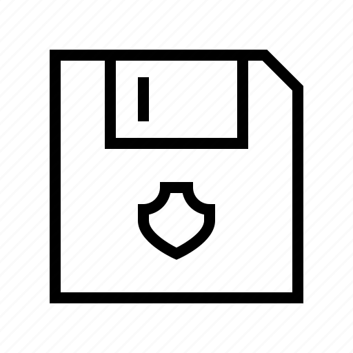Floppy, protect, protection, secure, shield icon - Download on Iconfinder