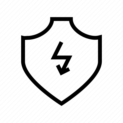 bolt, flash, protect, protection, secure, security, shield icon