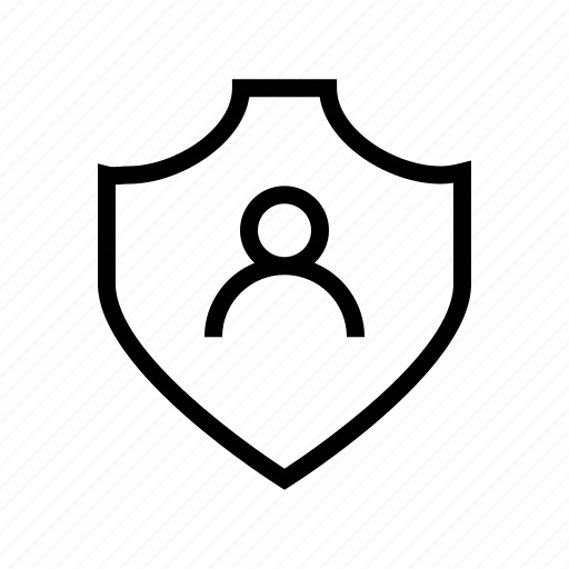person, protect, protection, secure, security, shield icon