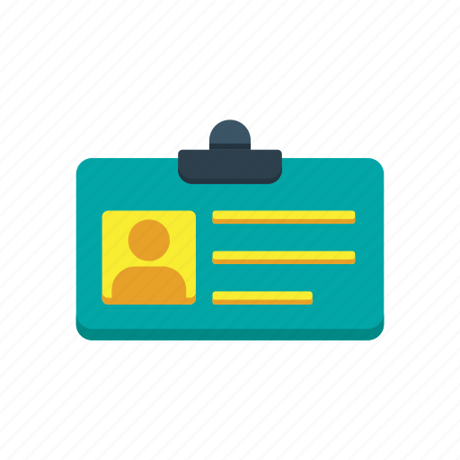 business, card, id, identification, name, tag icon