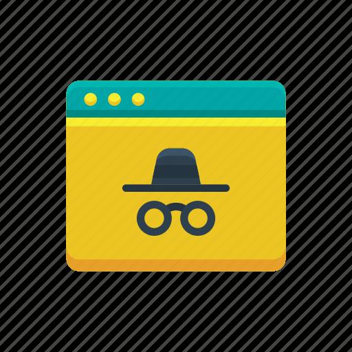 browser, history, incognito, mode, privacy, private, secured icon