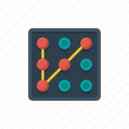 lock, password, pattern, pin, protection, security, strategy icon