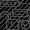 code, cryptography, lock, open, password, security, unlock icon