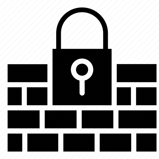 data privacy, firewall, information security, lock, protection, web security icon