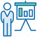marketing, meeting, planning, presentation, report, statstics, strategy icon