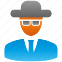 blackhat, encryption, firewall, guard, hat, shield icon