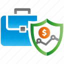 business, encryption, firewall, guard, protection, shield icon