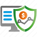 encryption, financal, firewall, guard, protection, shield icon