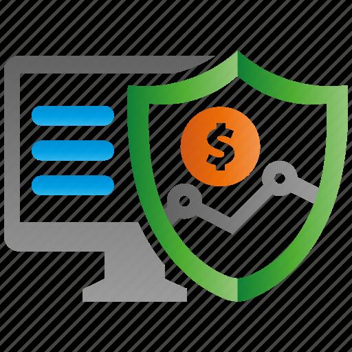 encryption, financal, firewall, guard, protection, shield icon