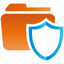 encryption, firewall, folder, guard, security, shield icon