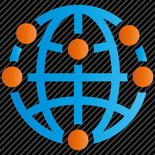 encryption, firewall, global, guard, network, shield icon