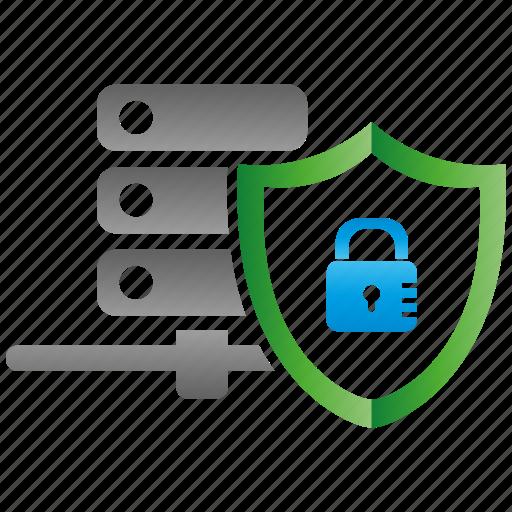 encryption, firewall, guard, security, server, shield icon