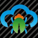 cloud, encryption, firewall, guard, shield, spam icon