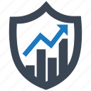 analytics, protection, safety, secure, security, server, shield icon