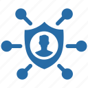 access, protection, safety, secure, server, shield icon