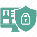 data, privacy, protect, protection, safety, secure, shield icon