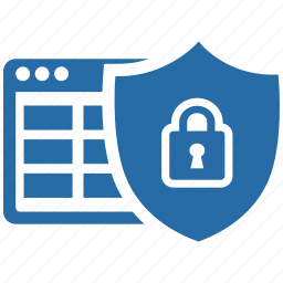 data, protect, protection, safety, secure, server, shield icon