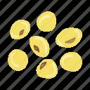 beans, soy, soya, soybeans, vegetarian, soybean, vegan icon