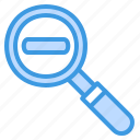 zoom, out, magnifying glass, search, find, view, minus