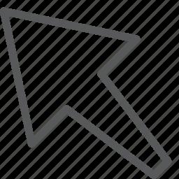 arrow, corner, cursor, left, point, pointer, selection icon