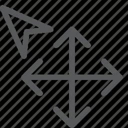 all, arrow, cursor, direction, move, selection icon
