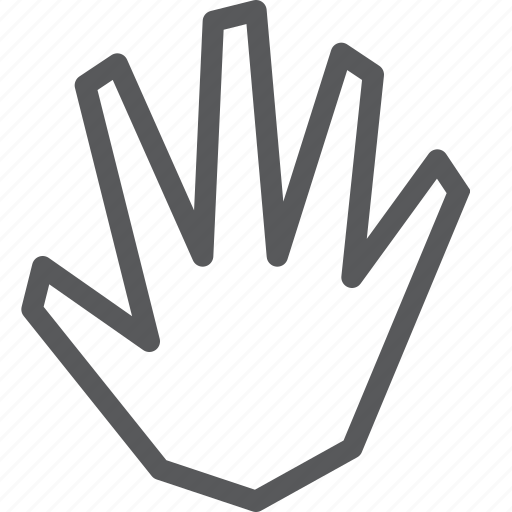 cursor, fingers, hand, open, palm, selection, stop icon