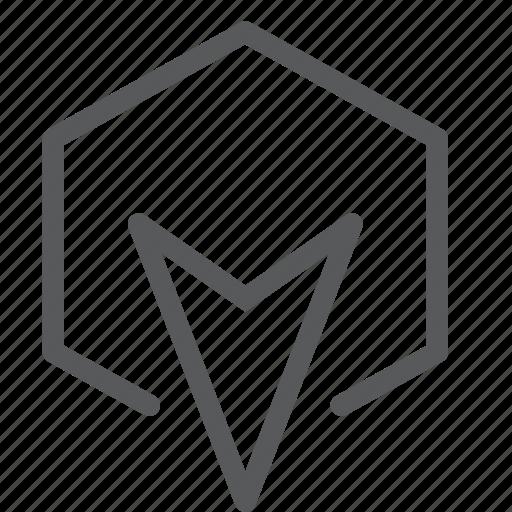 arrow, cursor, direction, down, move, selection icon