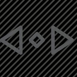 arrow, cursor, direction, horizontal, left, move, right, scroll icon