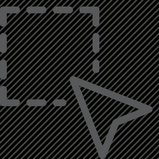area, arrow, cursor, navigation, pointer, select, selection icon