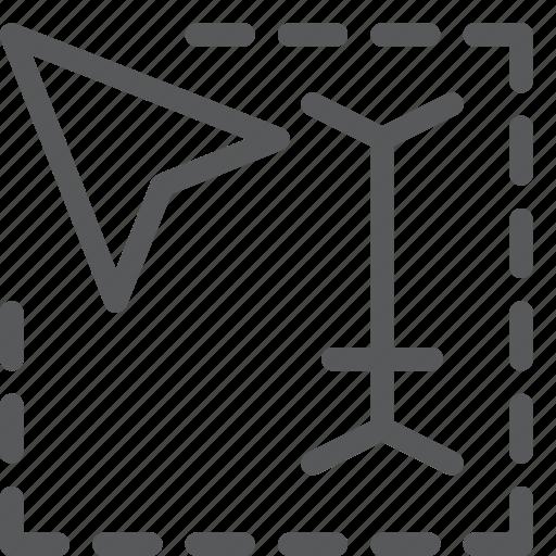 area, arrow, cursor, navigation, pointer, select, selection, textbox icon