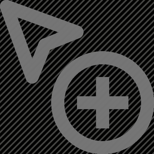 add, arrow, cursor, new, plus icon