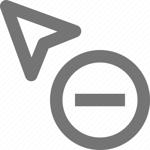 arrow, cursor, minimize, minus, remove icon