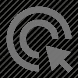 arrow, cursor, double click icon