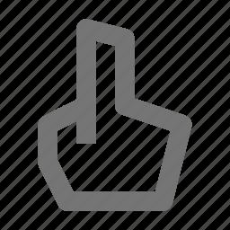 cursor, finger, hand icon