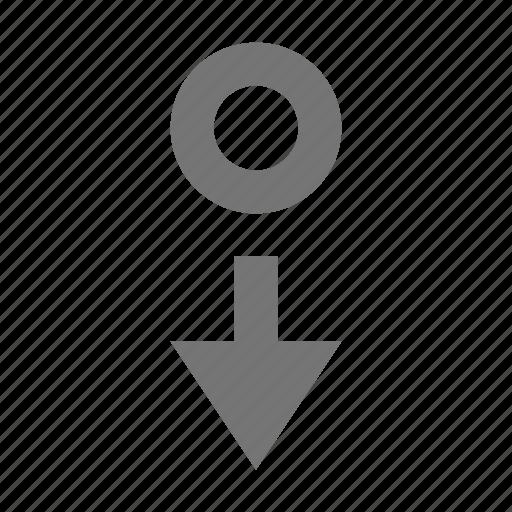 arrow, cursor, cursor down icon